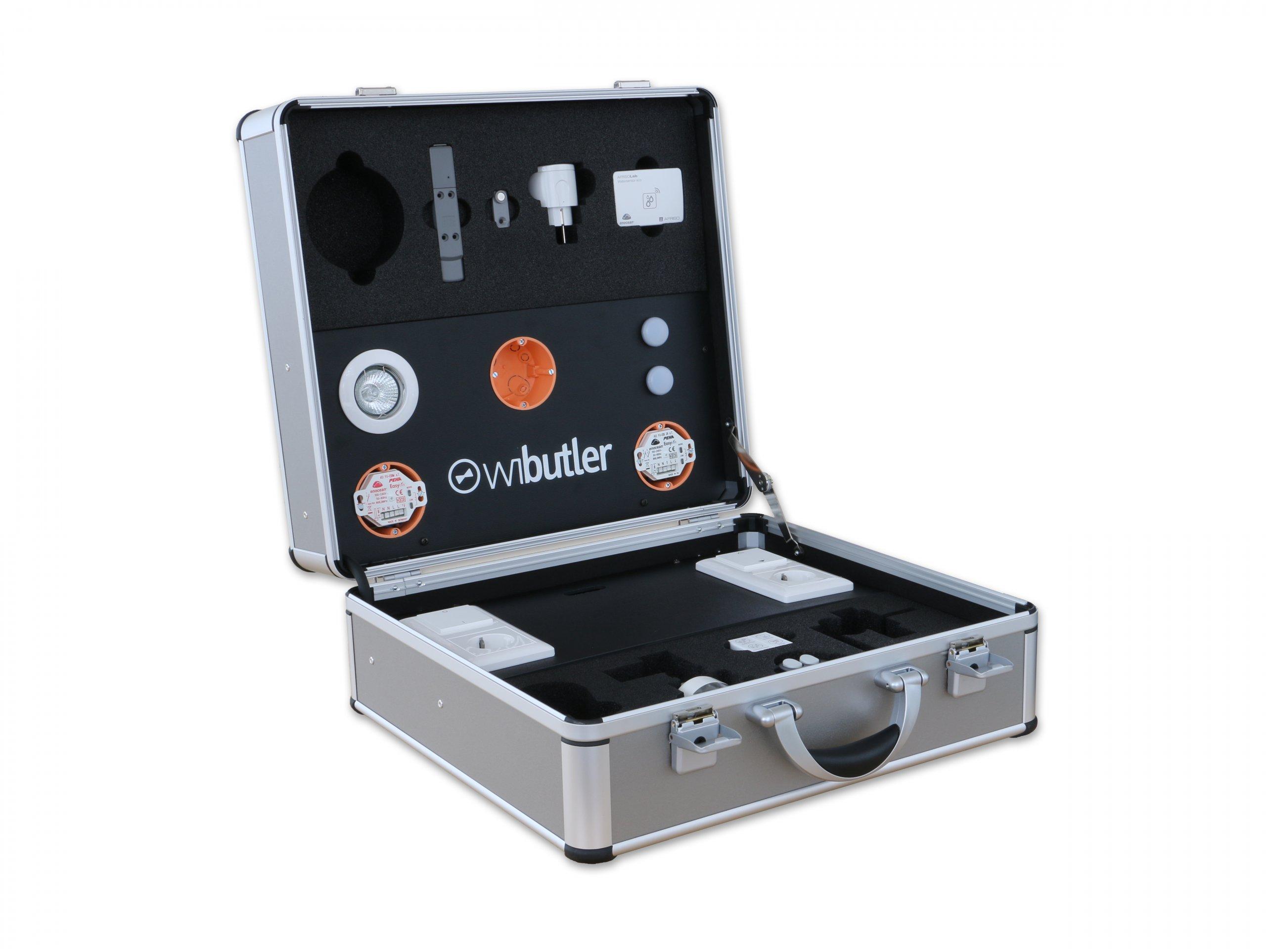 Präsentationskoffer mit Elektroanschluss