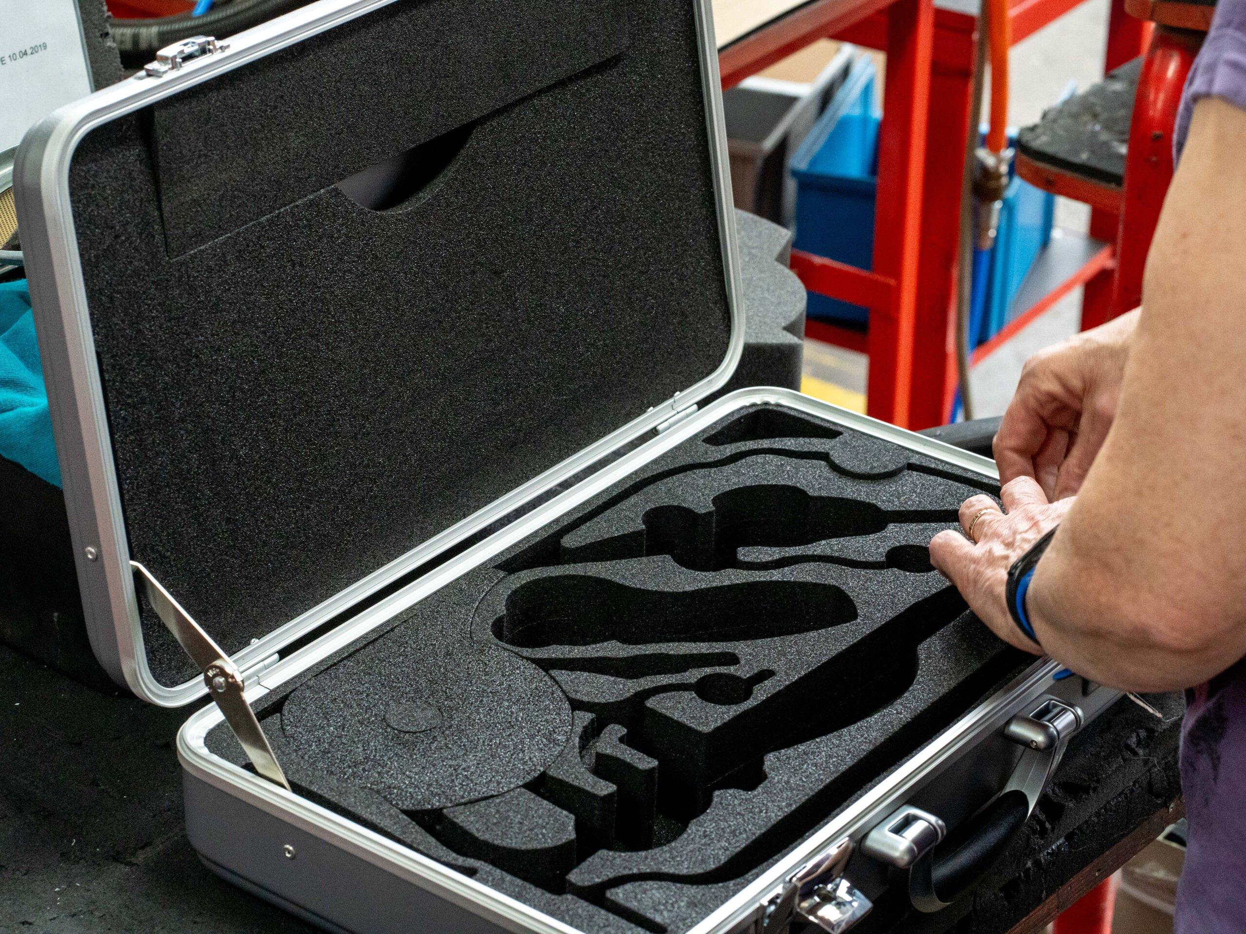Glue foam into special case