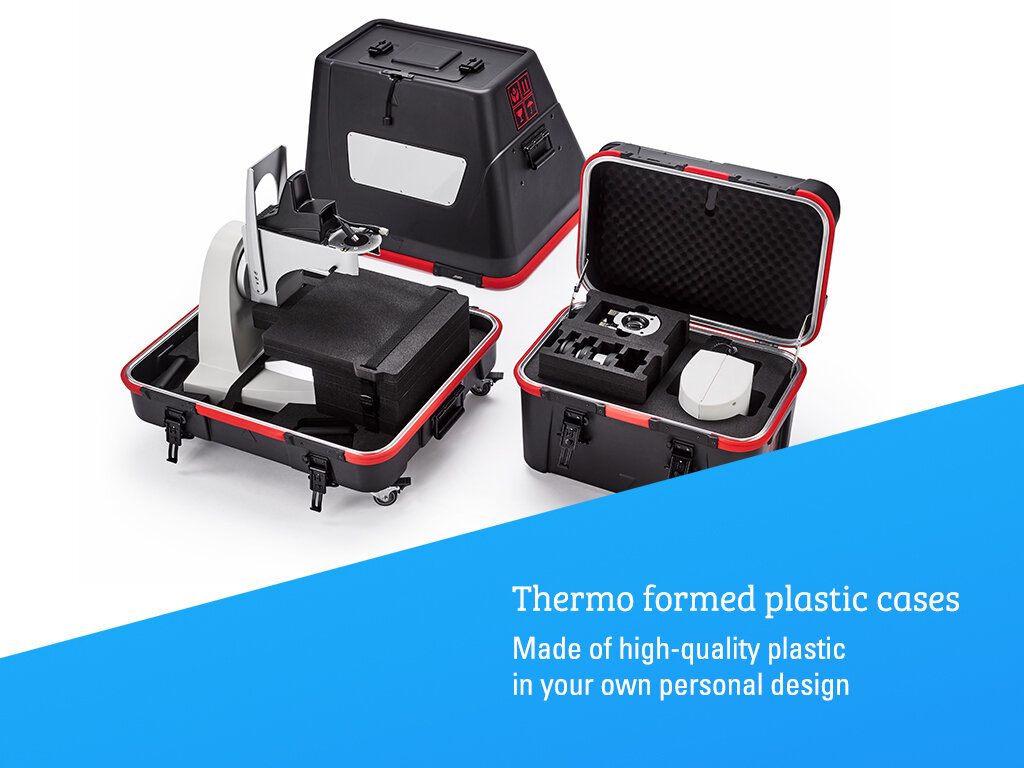 Thermo formed platic cases